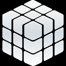 Rubik_Cube_256 SILVER